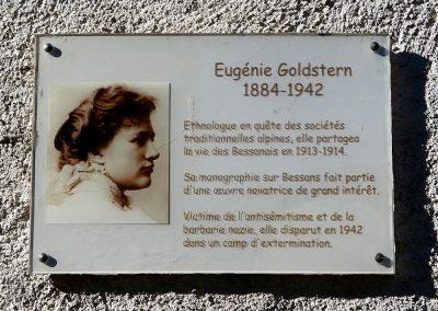 La Commune de Bessans et BJA en hommage à Eugénie Goldstern