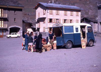 Camion marché clients