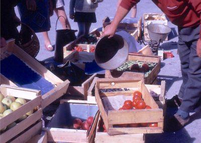 Marché légumes en 1968