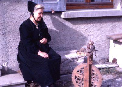 Virginie Tracq et son rouet