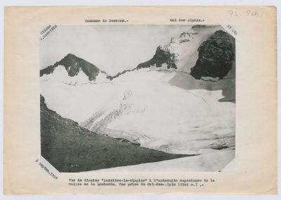 12931. Bessans. Glacier derriere le clappier. Haute montagne. 1927. RTM