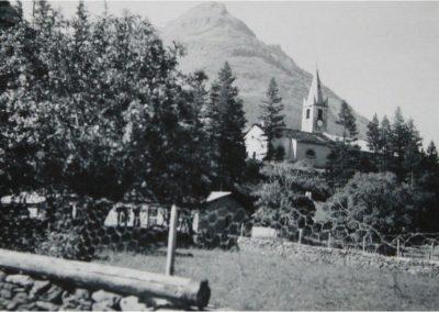 12958. Bessans. eglise. aout 1956. DR
