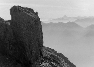 Alpes vues de Rochemelon photo Peter Guggenbühl 1967