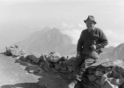 Arnold Niederer à Rochemelon photo Peter Guggenbühl 1967
