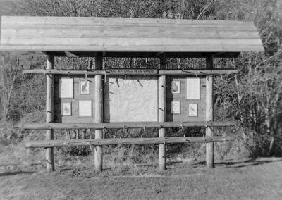 Panneau Parc National de la Vanoise photo Peter Guggenbühl 1967