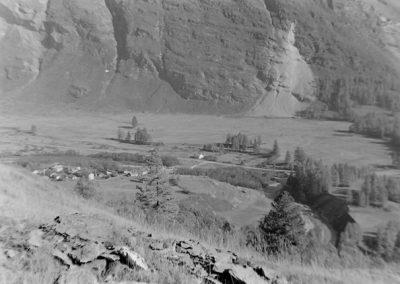 Photo prise du chemin du Vallon photo Peter Guggenbühl 1967