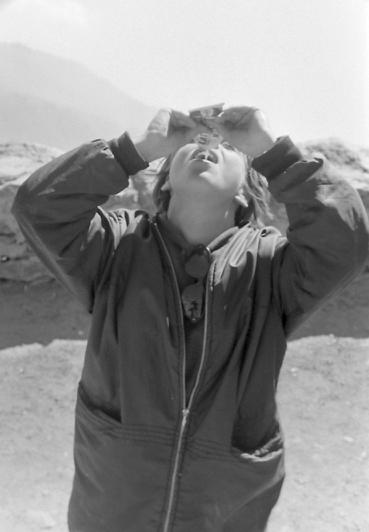 Ursula Kugler à Rochemelon  photo Peter Guggenbühl 1967