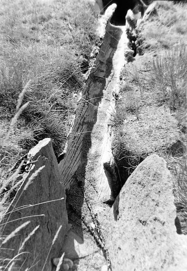 Vincendières goulotte eau photo Peter Guggenbühl 1967